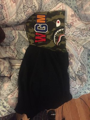 Bape Camo Hoodie Fully Zipped Size Large for Sale in Boston, MA