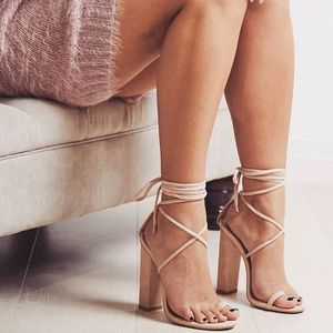 Nude lace up block heels, size 6 BRAND NEW. for Sale in Scotch Plains, NJ