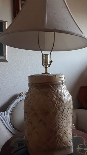 BASKET LAMP WITH SHADE for Sale in Stockton, CA