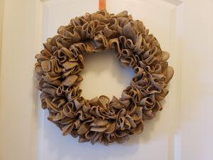 Burlap wreath for Sale in Orlando, FL