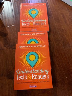 Understanding Texts & Readers: Responsive Comprehension Instruction with Leveled Texts ISBN-13: 978-0325108926, ISBN-10: 0325108927 price for 1 for Sale in Walnut, CA