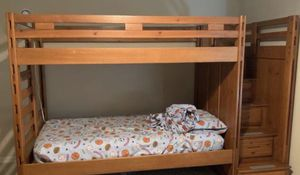 Bunk Beds Twin/Twin with Storage Stairs and Trundle for Sale in Annandale, VA