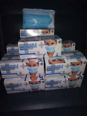 Disposable face mask 50 pcs for Sale in Los Angeles, CA