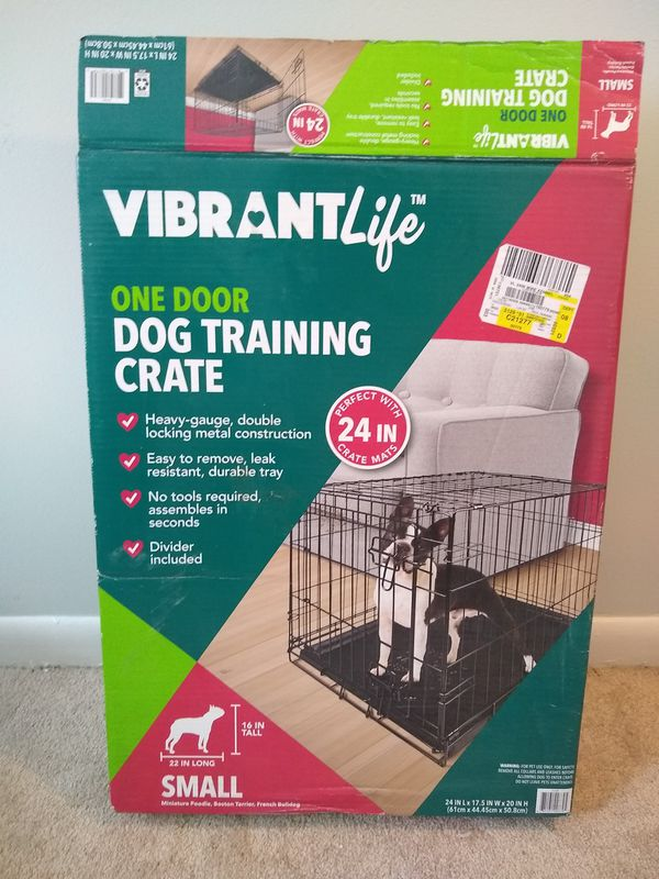 Vibrant Life small dog crate, barely used.