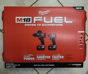Milwaukee M18 Fuel Hammer Drill/ Impact combo for Sale in Murrieta, CA