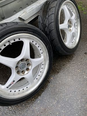 18 inch rims tires 90% 4x100 for a Honda Civic for Sale in Tacoma, WA