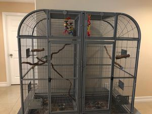 Huge single or double cage with divider for Sale in Seffner, FL