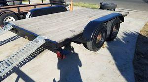 6.5 x 12 foot car trailer flat bed trailer utility trailer can am razor trailer 2900 OBO!!! for Sale in Stanton, CA