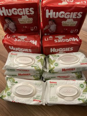 Diapers and wipes for Sale in Los Angeles, CA