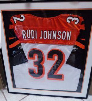 AUTOGRAPHED FRAMED- Cincinnati Bengals RUDI JOHNSON Jersey for Sale in Middleburg, FL
