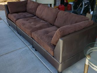 Awesome Like New! Brown Micro Fiber Couch / Sofa for Sale in Las Vegas,  NV