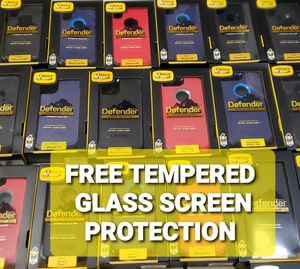 Otterbox Cases Defender Series With FREE TEMPERED GLASS for iPhones 7p/8p/Xs/XR/Xmax/11/11pro/11proMax for Sale in Long Beach, CA