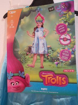 Trolls Poppy costume size Medium 7-8 for Sale in Ontario, CA