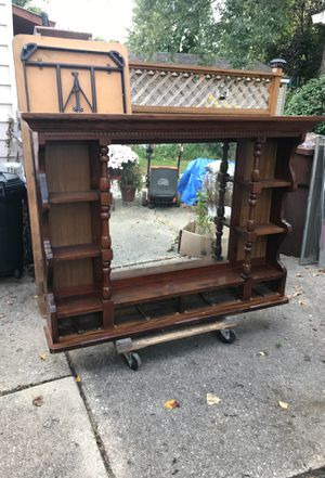 Solid wooden shelves, GREAT back wall for Man Cave or She Shed for Sale in Westland, MI