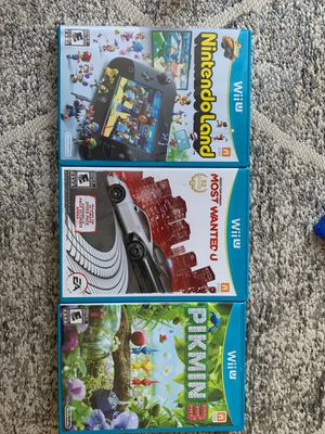 Wii U pikmin 3, need for speed, Nintendo land for Sale in San Diego, CA