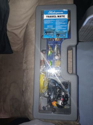 Tackle box and fishing pole for Sale in Crestline, CA