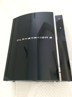 PS3. Especial Edition 60 gb perfect condition 2 controller 9 games and controller remote for blue ray plus game PS3 game pack leather for Sale in College Park, GA