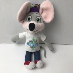 Chuck E Cheese Birthday Rockstar Plush Stuffed Animal Pizza Mouse for Sale in Avon Lake, OH