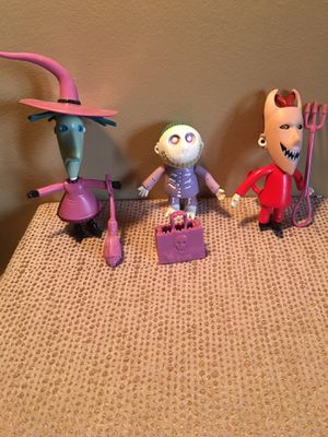 NECA Nightmare Before Christmas Lock Shock and Barrel Action Figures 2004 for Sale in Pittsburgh, PA