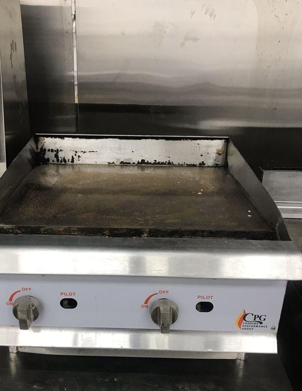 "Restaurant equipment ""griddle and gyro machine"