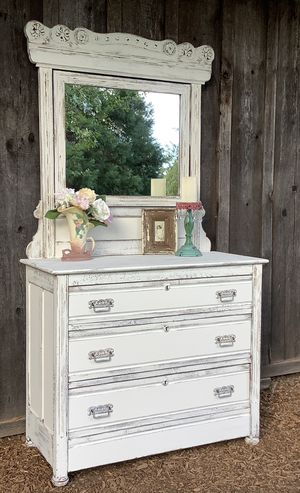 """Shabby Chic"" Dresser with Detachable Mirror for Sale in Hillsboro, OR"