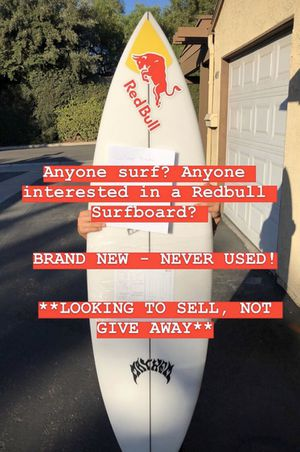 5'9 surfboard brand new lost driver redbull for Sale in Orange, CA