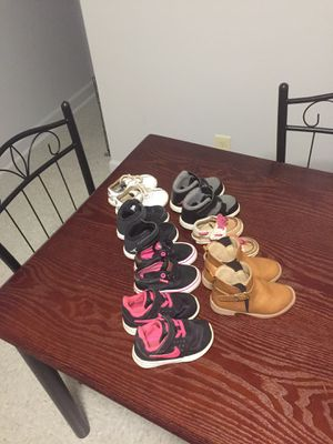 Jordan's,Nike's,Levi's,boots,and sperrys little girl shoes for Sale in Lumberton, NC