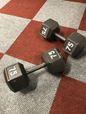 75 pound dumbbell set (like new) for Sale in Yonkers, NY