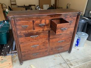 Dresser and queen bed frame for Sale in Cottage Grove, OR