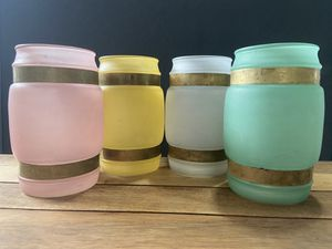 Vintage 1960's Siesta Wear Frosted Mugs Teal, Yellow, White, Pink for Sale in Cashmere, WA
