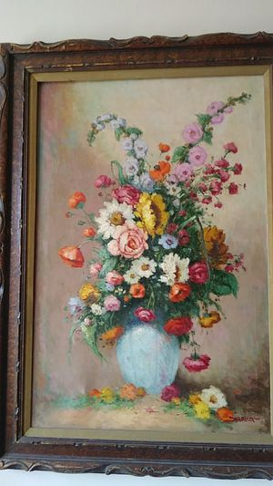 Victorian looking flower painting for Sale in Portland, OR