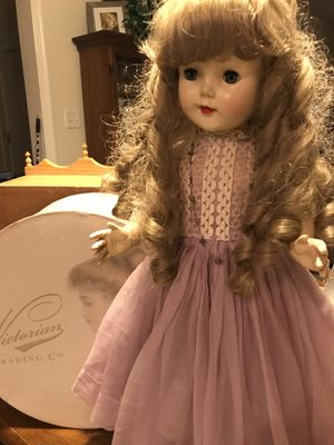 Pretty Vintage Doll with long Curls for Sale in Gainesville, VA