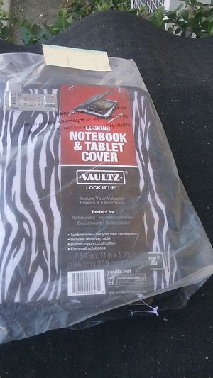 vaultz notebook and tablet cover for Sale in Montclair, CA