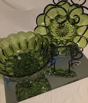 VINTAGE set of INDIANA GLASS 💚💚💚 for Sale in Bakersfield, CA