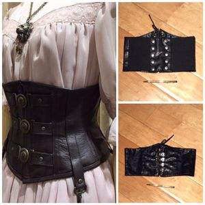 black leather mid waist corset -small for Sale in Las Vegas, NV