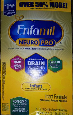 Enfamil Neuro pro infant baby formula refill 2-15.7oz pouches for Sale in Seattle, WA