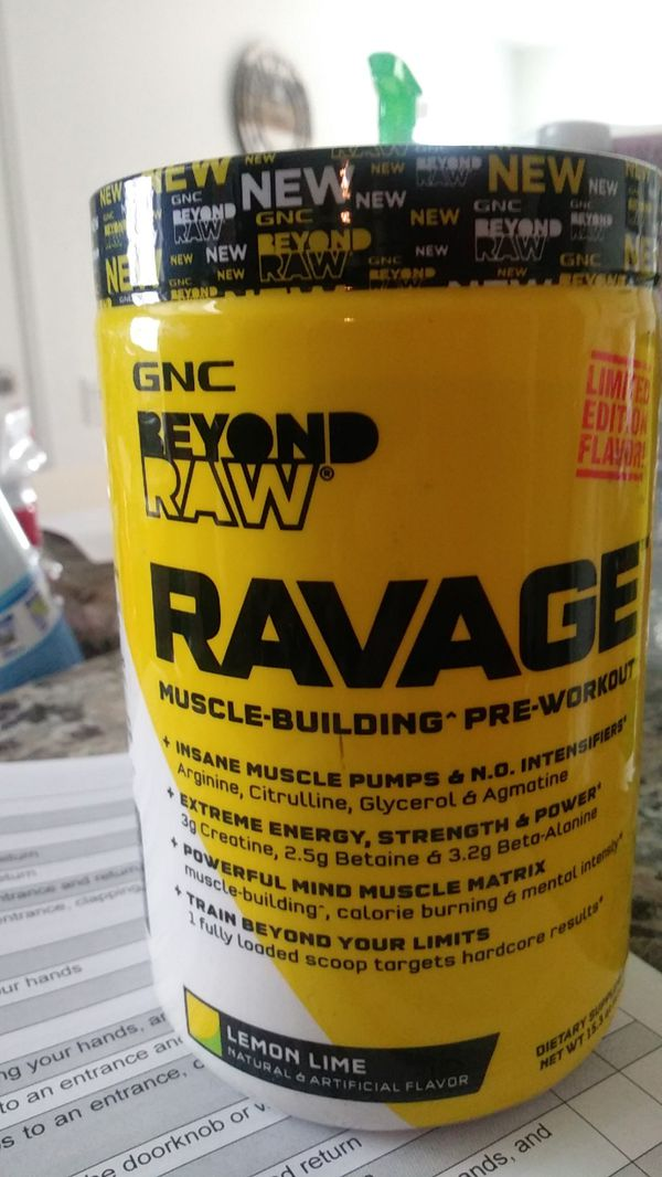 Pre Workout Gnc Ravage For Sale In San Marcos Ca Offerup