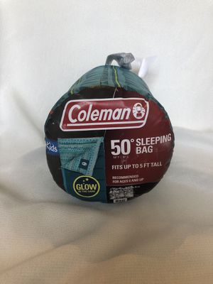 Coleman Kids 50 degrees Sleeping Bag for Sale in Chula Vista, CA