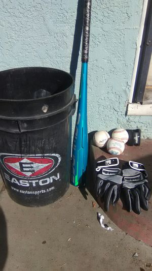 40 brand new baseballs Rawlings bat USA certified Batting gloves and donut for Sale in Atwater, CA