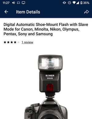 Digital Automatic Shoe-Mount Flash with Slave Mode for Sale in Jersey City, NJ