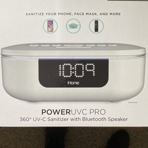 iHome UV-C Sanitizer Alarm Clock with Bluetooth Speaker & USB Charging for Sale in Byron, CA