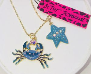 """Betsey Johnson """"A DAY AT THE 🏖 BEACH!"""" Beautiful blue crab 🦀 & starfish charms necklace NEW! for Sale in Carrollton, TX"""
