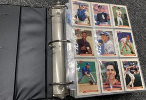 1992 Bowman Complete Baseball Card Set In Binder 1-705 Mint Piazza Rivera Hoffman Rookie Cards for Sale in Brea, CA