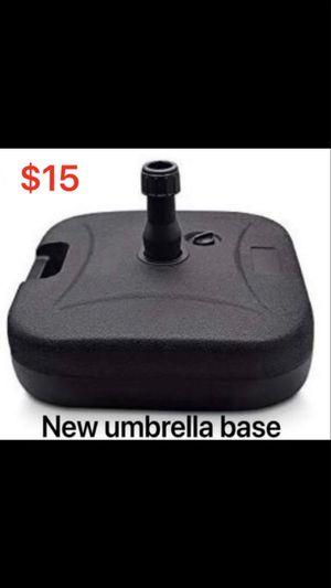 Brand new outdoor patio umbrella base. $15. (Tempe) for Sale in Tempe, AZ