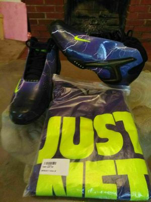 Nike hyper venom lightning and just 10 shirt sz 12 for Sale in Rustburg, VA
