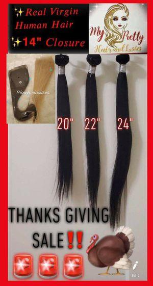Real virgin human hair bundles &closure for Sale in Vallejo, CA