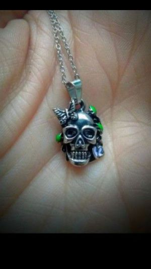 StaiNLeSs STeeL SKuLL ChaRm NeCkLaCe for Sale in Bountiful, UT