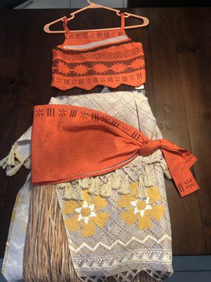 Disney's Moana Costume Size 9/10 for girls for Sale in Princeton, FL