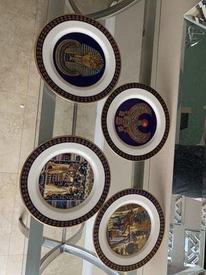 Treasures of Tutankhamum Collector Plates (4). - with certificates for Sale in Davie, FL