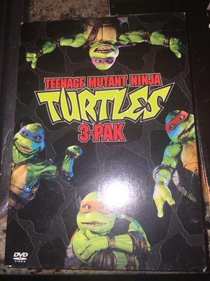 Teenage mutant ninja turtles 3 pak dvds for Sale in Tampa, FL